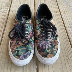 Vans Vintage Floral Tapestry Low Top Sneakers 8.5
